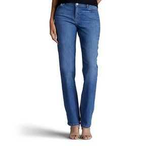 Lee Relaxed Fit, High Rise, Straight Leg Jeans